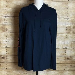 SIMPLY SOUTHERN HOODED LS TEE EUC SIZE MEDIUM